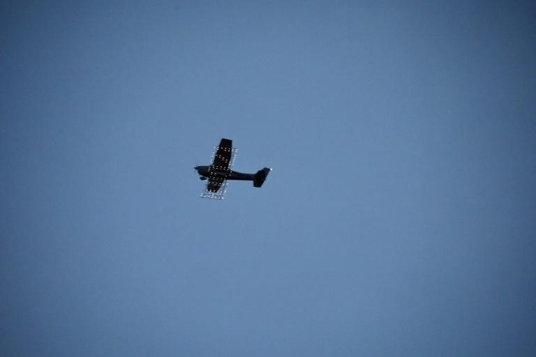 Low flying aircraft.